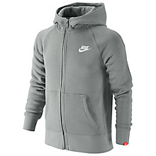 Buy Nike Boys' Brushed Fleece Full-Zip Hoodie Online at johnlewis.com