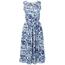 Buy Jaeger Brushstroke Sleeveless Dress, White/Blue Online at johnlewis.com