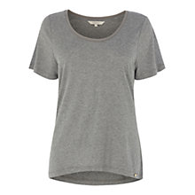 Buy Wishbone Gaby Scoop Tee, Mid Grey Online at johnlewis.com