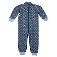 Buy Polarn O. Pyret Baby Merino Wool Snowflake Romper, Blue Online at johnlewis.com