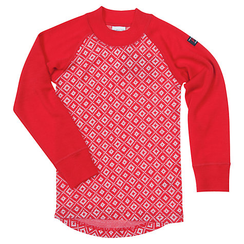 Buy Polarn O. Pyret Baby Merino Wool Snowflake Top, Red Online at johnlewis.com