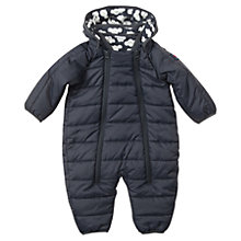 Buy Polarn O. Pyret Baby Quilted Snowsuit, Black Online at johnlewis.com