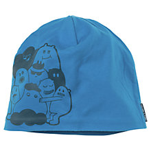 Buy Polarn O. Pyret Character Print Beanie Hat, Blue Online at johnlewis.com