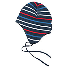 Buy Polarn O. Pyret Striped Baby Beanie Online at johnlewis.com