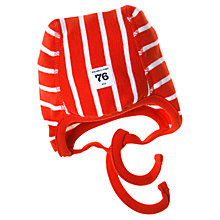 Buy Polarn O. Pyret Baby Stripe Helmet Hat Online at johnlewis.com