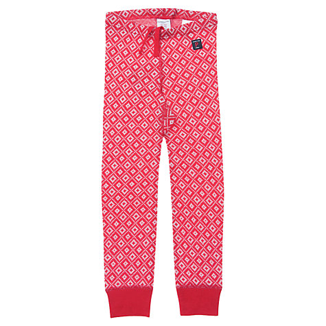 Buy Polarn O. Pyret Baby Snowflake Merino Wool Long Johns, Red Online at johnlewis.com