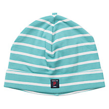Buy Polarn O. Pyret Baby Striped Beanie Hat, Blue/White Online at johnlewis.com