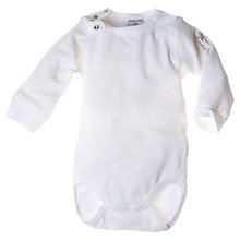 Buy Polarn O. Pyret Baby Organic Cotton Bodysuit, White Online at johnlewis.com