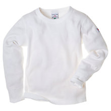 Buy Polarn O. Pyret Ribbed Cotton T-Shirt, White Online at johnlewis.com