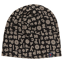 Buy Polarn O. Pyret Repeat Print Beanie Hat, Black Online at johnlewis.com