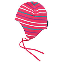 Buy Polarn O. Pyret Striped Baby Beanie Hat, Pink/Multi Online at johnlewis.com
