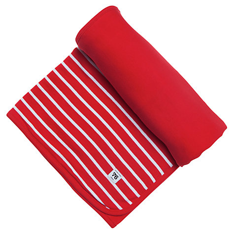 Buy Polarn O. Pyret Striped Pram Blanket, Red/White Online at johnlewis.com