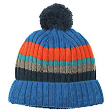 Buy Polarn O. Pyret Children's Bobble Hat, Blue, One Size Online at johnlewis.com