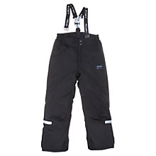 Buy Polarn O. Pyret Children's Overwear Trousers, Black Online at johnlewis.com