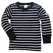 Buy Polarn O. Pyret  Baby Striped Top, Navy/White Online at johnlewis.com