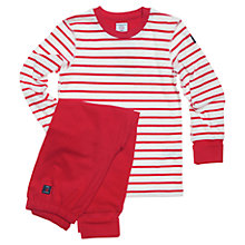 Buy Polarn O. Pyret Childrens' Striped Pyjamas Online at johnlewis.com