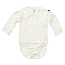 Buy Polarn O. Pyret Baby's Star Wrap Bodysuit, White Online at johnlewis.com