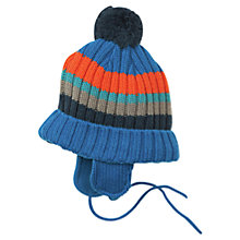 Buy Polarn O. Pyret Baby's Bobble Hat, Blue/Multi Online at johnlewis.com
