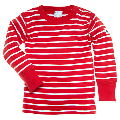 Buy Polarn O. Pyret Baby Stripe T-Shirt, Red Online at johnlewis.com