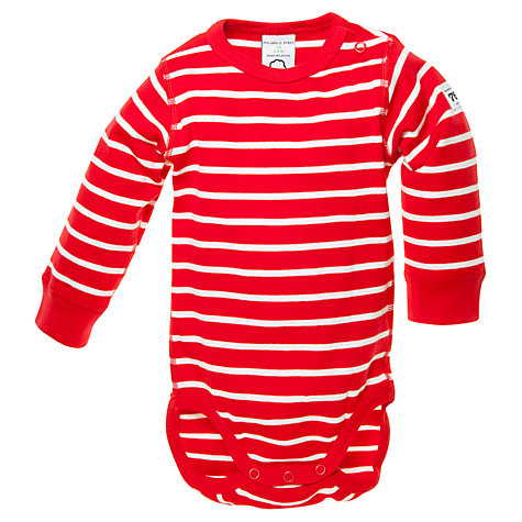 Buy Polarn O. Pyret Baby Striped Bodysuit Online at johnlewis.com
