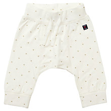 Buy Polarn O. Pyret Baby's Star Trousers, White Online at johnlewis.com