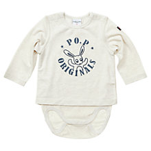 Buy Polarn O. Pyret Baby's Rabbit Bodysuit, White Online at johnlewis.com