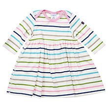 Buy Polarn O. Pyret Baby's Stripe Dress, White/Multi Online at johnlewis.com