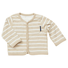 Buy Polarn O. Pyret Baby's Reversible Cardigan, Stone Online at johnlewis.com