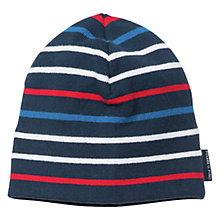 Buy Polarn O. Pyret Striped Beanie Hat, One Size Online at johnlewis.com