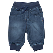 Buy Polarn O. Pyret Baby's Denim Trousers, Blue Online at johnlewis.com