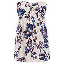 Buy Warehouse Outline Floral Bandeau Top, Multi Online at johnlewis.com