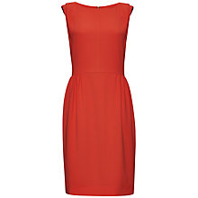 Buy Jaeger Sleeveless Crepe Dress, Orange Online at johnlewis.com