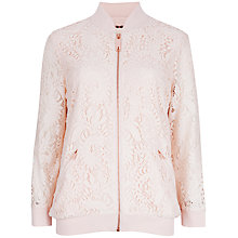 Buy Ted Baker Lace Bomber Jacket, Nude Pink Online at johnlewis.com