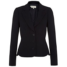 Buy Hobbs Mari Jacket, Navy Online at johnlewis.com