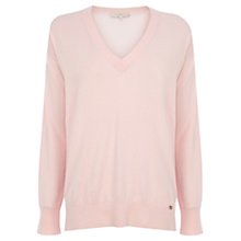 Buy Wishbone Bella Silk-mix Knit Top, Pale Pink Online at johnlewis.com
