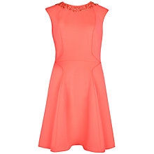 Buy Ted Baker Akla Embellished Skater Dress, Orange Online at johnlewis.com