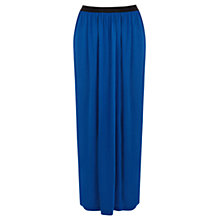 Buy Warehouse Satin Elastic Maxi Skirt, Bright Blue Online at johnlewis.com