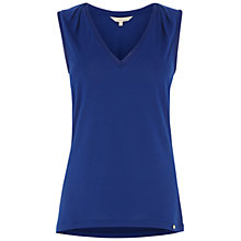 Buy Wishbone Rae Silk Trim Vest, Rich Blue Online at johnlewis.com