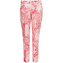 Buy Ted Baker Floral Jacquard Trousers, Light Pink Online at johnlewis.com