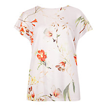 Buy Ted Baker Cekek Botanical Bloom T-Shirt, Pale Pink Online at johnlewis.com