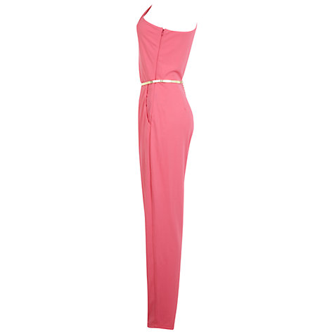Buy Miss Selfridge One Shoulder Jumpsuit, Pink Online at johnlewis.com