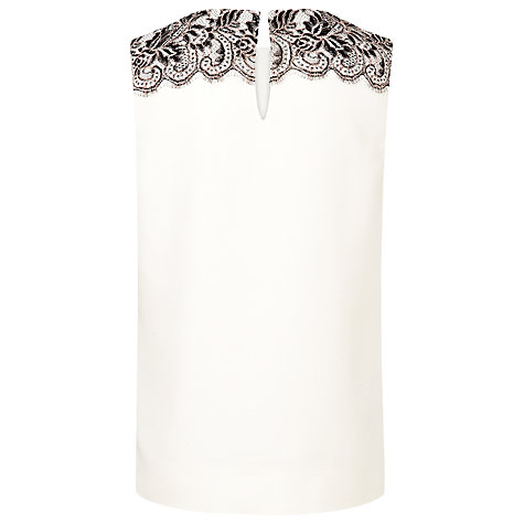 Buy L.K. Bennett Finch Lace Top, Cream Online at johnlewis.com