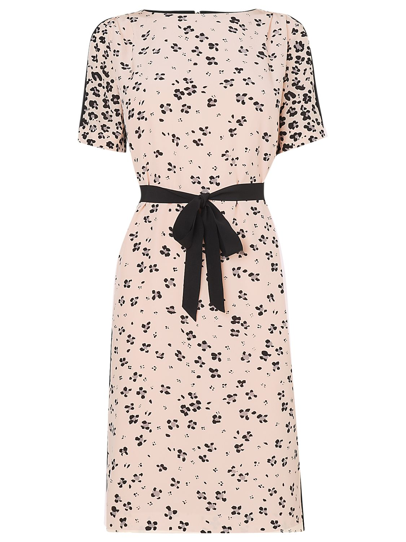 L.K. Bennett Blossom Print Silk Dress, Ballerina