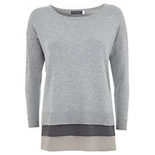 Buy Mint Velvet Layer Hem Knitted Jumper, Grey Online at johnlewis.com
