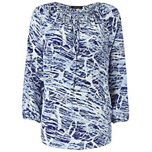 Buy Jaeger Brush Stroke Print Kaftan, Blue Online at johnlewis.com
