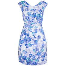 Buy Closet Floral Print Tie Back Dress, Multi Online at johnlewis.com