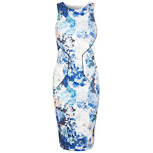 Buy Miss Selfridge Smudgy Floral Bodycon Dress, Blue Online at johnlewis.com