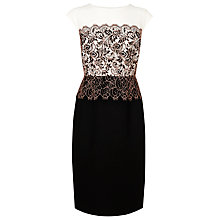 Buy L.K. Bennett Fincham Lace Dress, Cream Online at johnlewis.com