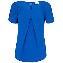 Buy Almari Pleat Sleeve Curve Hem Top Online at johnlewis.com