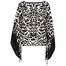 Buy Jaeger Tiger Print Kaftan, Black / White Online at johnlewis.com